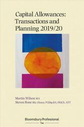 Capital Allowances Transactions And Planning 2019/20 Paperback By Wilson ...