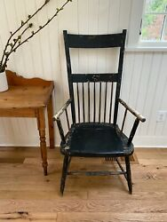 Antique Windsor Chair In Black 1850s