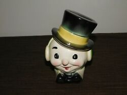 Vintage 6 High Ceramic Top Hat Bow Tie Frosty The Snowman Coin Money Bank