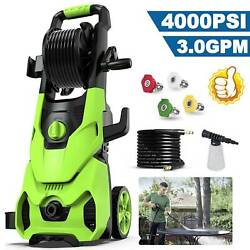 4000psi Pressure Washer 3.0gpm Electric Power Washer 1800w High Pressure Cleaner