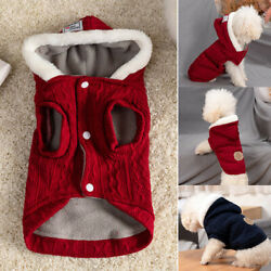 Winter Warm Knitted Puppy Dog Jumper Sweater Pet Clothes For Small Dogs Cat Coat