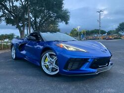 2021 C8 Corvette Z51 Silver Oem Wheels, Tires, Colored Center Caps And Lug Nuts