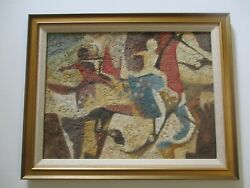 Garcia Roza Oil Painting Modernist Horse Expressionism Abstract Vintage Rare