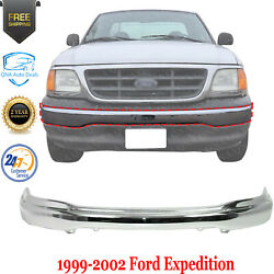 Front Bumper Chrome Steel For 1999-2003 Ford F-150 1999-2002 Ford Expedition