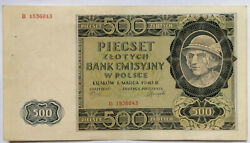 Poland.the 500 Złoty Note Issued By The German During World War Ii