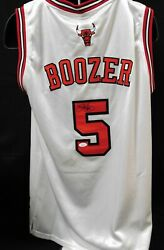 Carlos Boozer Chicago Bulls Signed Custom Authentic Jersey Jsa Authenticated