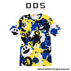 Shin Megami Tensei Dds Jack Frost Camouflage T-shirt Blue Atlus Made In Japan