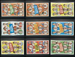 1969 Topps Team Posters Partial Complete Set 5 - Ex