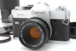 Confirmed To Work Canon Ftb Ql Body Fd 50mm F1.8 200mm F4 S.s.c. Double Lens Set