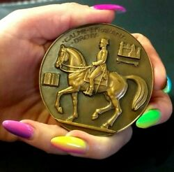 French Military Riding Academy One Of The Big Fourequestrian Art Deco Medal