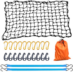 Bungee Cargo Net 4' X 6' Stretchable To 8' X 12' For Pickup Truck Bed Trailer