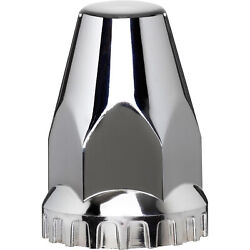 Roadmaster Abs Chrome Screw-on Lug Nut Covers- 10-pc Set 33mmx2 3/4in