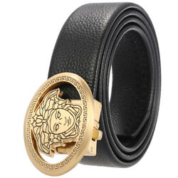 Menand039s Genuine Leather Ratchet Dress Belts With Auto Lock Buckle For Trim To Fit