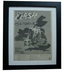 The Clash+complete Control+tour+poster+ad+framed+original 1977+fast Global Ship