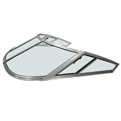 Chaparral Boat 5 Piece Windshield | 82 1/8 Inch Green Tint
