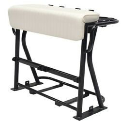 Boat Leaning Post Seat   39 1/2 X 32 1/8 Inch White Black