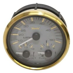 Faria Boat Multi-function Gauge Gs0036a | Signature Gold 4 1/4 Inch