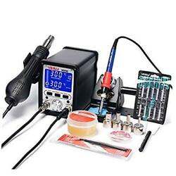 Yihua 995d 2 In 1 Soldering Station Iron 75w Hot Air Blower Rework Station