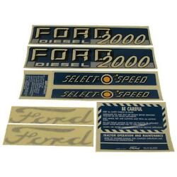 Decal Set Fits Ford Tractor 2000 Diesel Select-o-speed 1115-1535