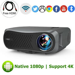 8500lumens Native 1080p Android 6.0 Led Projector 4k Bt Video Home Cinema Hdmi