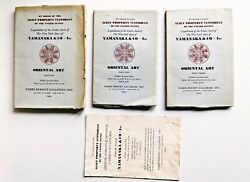 3 Auction Catalogs Of Seized Japanese-american Property Of Yamanaka And Co. 1944