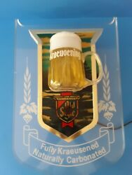Vintage 80s Heilemans Old Style Lighted Beer Sign With Bubbling Mug