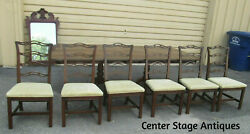 57178  Ethan Allen Dining Table With 6 Chairs Table Top 102 X 42
