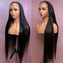 Hd Transparent Lace Front Human Hair Wigs Straight Pre Plucked Remy Glueless Wig