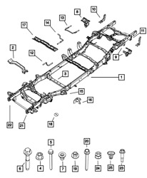 Genuine Mopar Chassis Frame Assembly 68320896aa