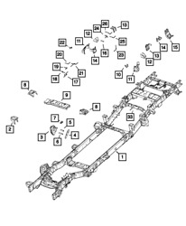 Genuine Mopar Chassis Frame Assembly 68371588aa