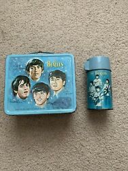 Vintage Beatles Lunch Box With Thermos