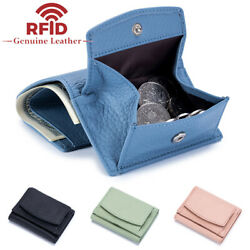 Womens Genuine Leather Clutch Wallet Credit Card Holder RFID Blocking Coin Purse $11.99