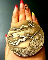 World Legend From Portugal Art Nouveau Medal By Dvarte In Marc Chagall Style