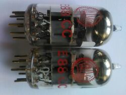 Matched Pair Valvo E88cc Red Label Holland  Nos Tube Grey Shild 1960y