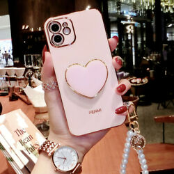 Girland039s Cute Shockproof Holder Case W/ Strap For Iphone 13 12 11 Pro Xs Max Xr 8