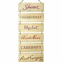 Hanging Wall Wine Décor – Wine Wall Art Bar Signs For Home Outside Accessorie...