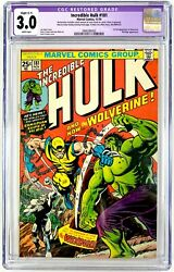 Incredible Hulk 181 Cgc 3.0 Restored C-1 Missing Mvs White Pages 1st Wolverine