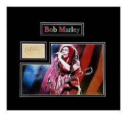 Bob Marley Autograph Book Page-museum Framed Ready To Hang
