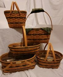Nos Longaberger Basket Family Traditions Series Complete Set Of 5 Baskets Rare