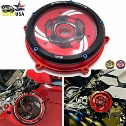 Motorcycle Clear Clutch Cover Protector Guard For Ducati Panigale V4 Speciale