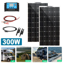 300w Flexible Solar Panel Kit 2x150w For Car Charger Rv/camping/boat Controller