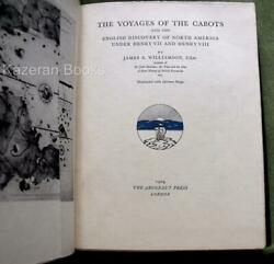 Vintage Ltd Edition Book Voyages Of The Cabots J Williamson And Signed Letter 1929