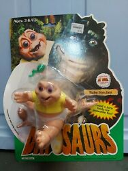 1991 Dinosaurs Tv Show Action Figure Baby Sinclair Hasbro New Sealed Pc1