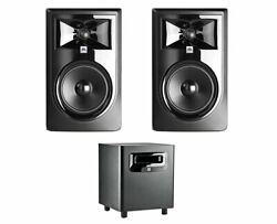 2x Jbl 306p Mkii 6 2-way Active Speaker Powered Monitor + Lsr310s Subwoofer Sub