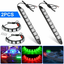 12v Bow Led Strips Red Green Marine Boat Submersible Navigation Light Waterproof