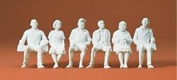 Preiser G Scale Figures Unpainted Seated Persons 4 Male, 2 Female   45183