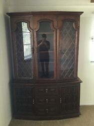 Antique China Cabinet Hutch Great Condition Handmade