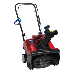 Gas Snow Blower 18 In. Single-stage Auger Assisted Electric Start Chute Control