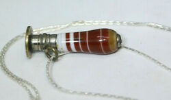 Antique Victorian 1900and039s Carnelian Vintage Stamp Mechanical Pencil Necklace 20