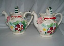 Pair Mcm Vintage Wall Pockets Made In Japan Flowers Watering Can Kitchen Decor